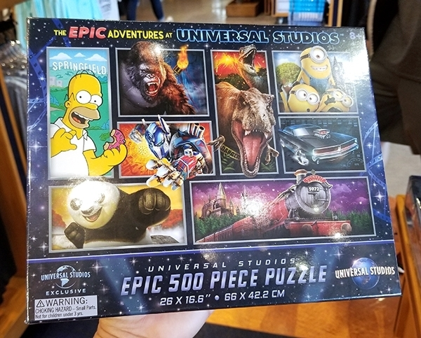 The 2019 Epic Adventures of Universal Studios Parks –  500 Piece Puzzle 26×16″