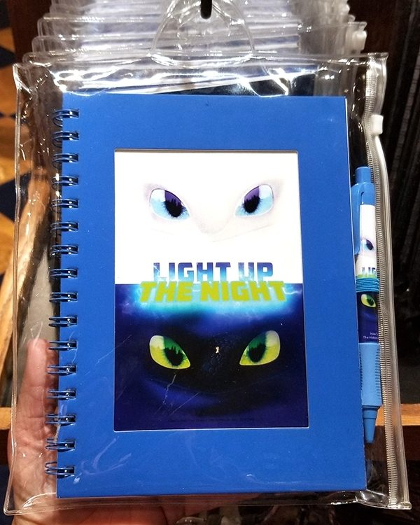 How to Train Your Dragon Universal Studios Parks Stationery Blue Journal & Pen
