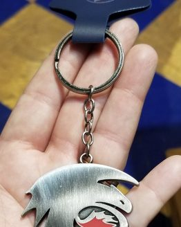 How to Train Your Dragon Universal Studios Parks Keychain Toothless Logo Metal