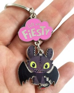 How to Train Your Dragon Universal Studios Parks Keychain Toothless Cute Fiesty