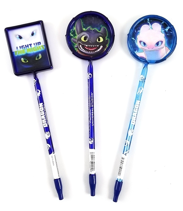 How to Train Your Dragon Universal Studios Parks Stationery Characters 3 Pen Set