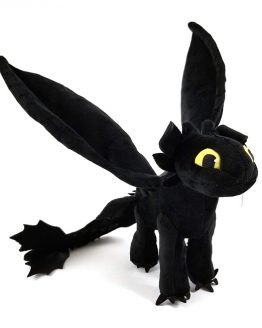 How to Train Your Dragon Universal Studios Parks Plush Toothless Wings Poseable