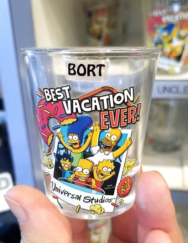 The Simpsons Universal Studios Parks Shot Glass – Polaroid Family Best Vacation Ever BORT