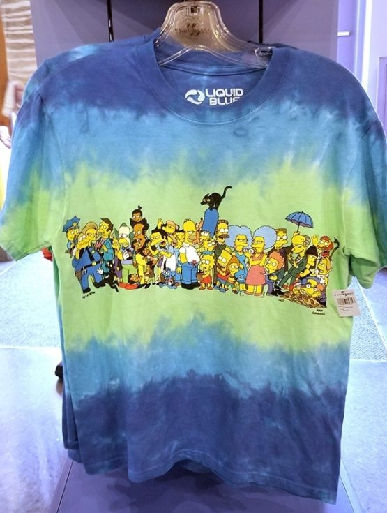 The Simpsons Universal Studios Parks Men's T-Shirt Multi Character Collage
