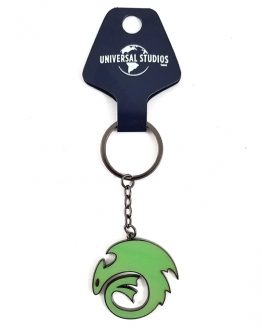 How to Train Your Dragon Universal Studios Parks Keychain Toothless Logo Green Glow in the Dark