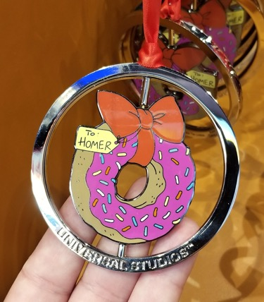 Holiday Ornament To Homer Pink Doughnut