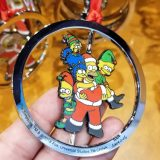 The Simpsons Universal Studios Parks Holiday Ornament Santa Homer w Elves Family