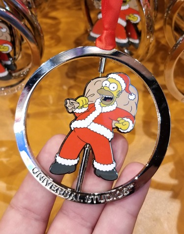 The Simpsons Universal Studios Parks Holiday Ornament Homer in Santa Costume