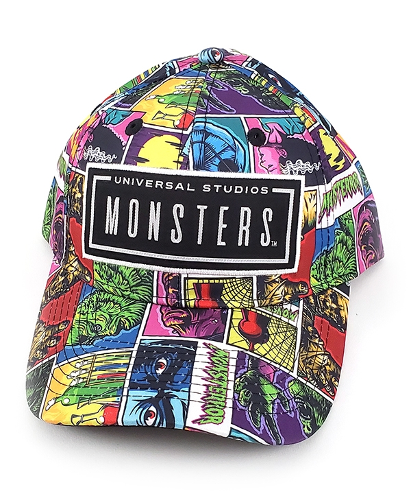Universal Classic Monsters - Universal Studios Parks Baseball Cap Hat Color Panel Collage