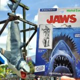 Metal Earth Jaws Hanging Shark 3D Model Kit Next to the Photo Op Spot at the Universal Studios Florida Theme Park