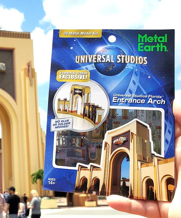Metal Earth Universal Studios Parks Exclusive 3D Model Kit US Florida Entrance Arch