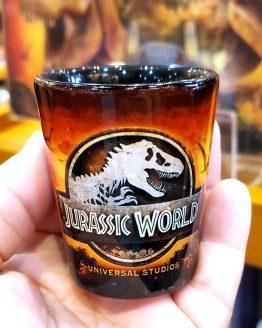 Jurassic World Universal Studios Parks Shot Glass - JW The Ride Attraction Art