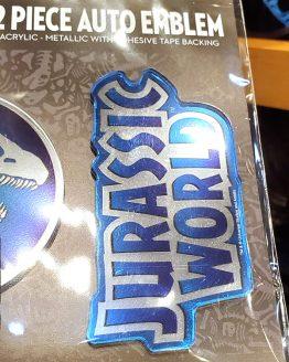 Jurassic World Universal Studios Parks 2 Piece Acrylic Auto Emblem Set