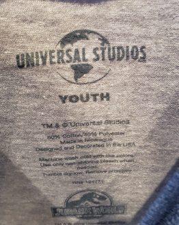 Jurassic World Universal Studios Parks Youth Kids Raglan Shirt - TRex VS Indominus Rex