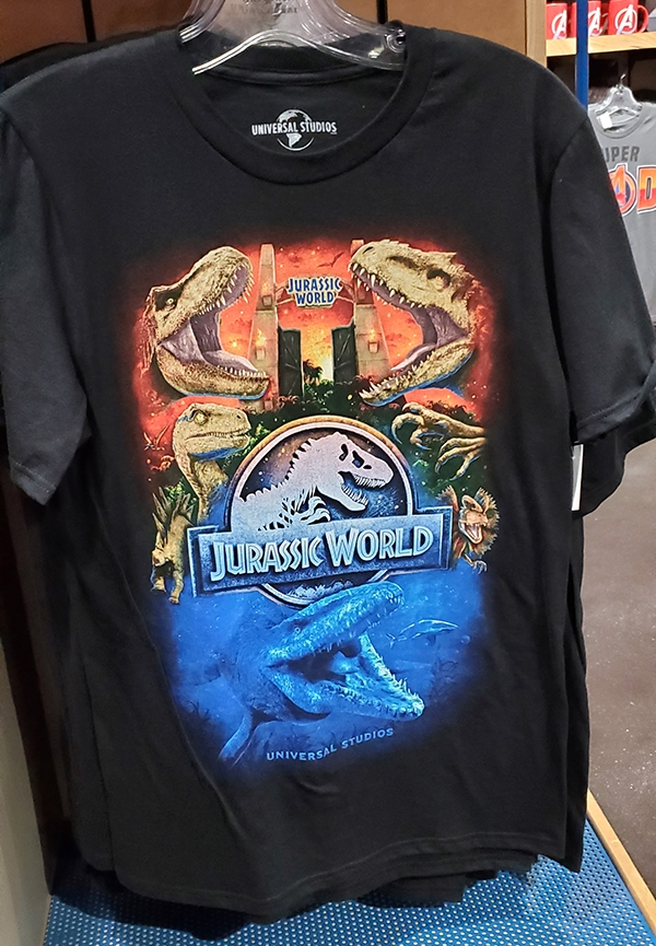 Jurassic World Universal Studios Parks Adult Shirt – JW The Ride Attraction Art