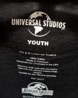 Jurassic World Universal Studios Parks Youth Kids Shirt - JW The Ride Attraction Art
