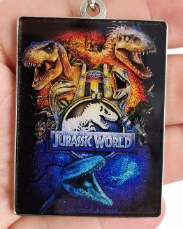 Jurassic World Universal Studios Parks Keychain - JW The Ride Attraction Art