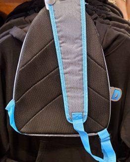 Jurassic World JW Universal Studios Parks Blue Sling Backpack Bag Honeycomb Pattern