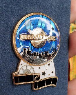 Universal Studios Parks Trading Pin - Universal Studios Logo w/ Stars Snow Globe Film Strip