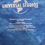 UOR New Globe Logo Universal Studios Parks Men's Shirt Blue Tie-Dye Crush