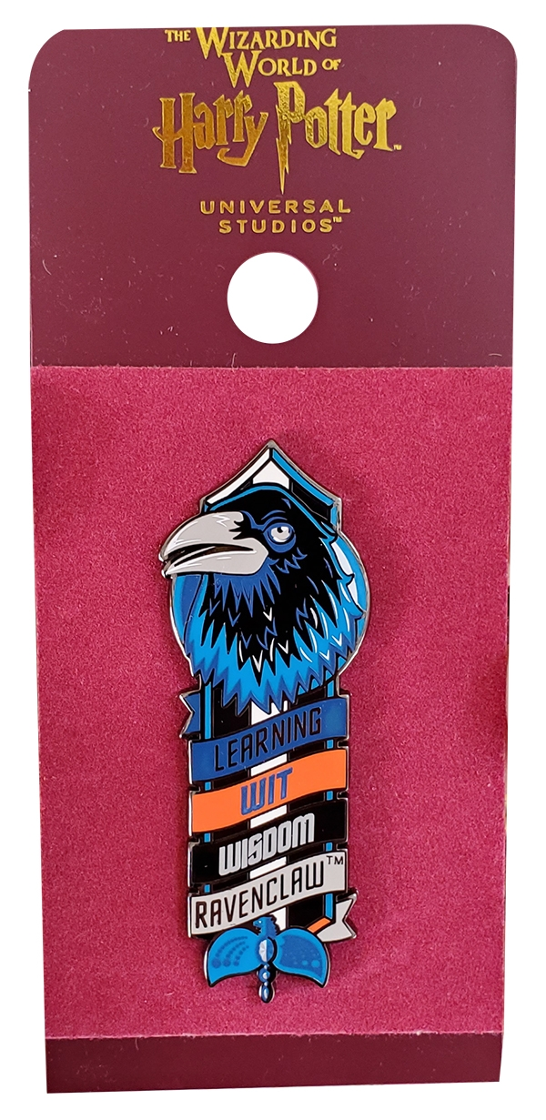Wizarding World of Harry Potter Universal Studios Parks Trading Pin – Hogwarts House Loyalty Ravenclaw Raven