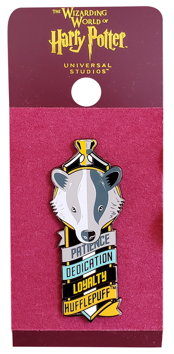 Wizarding World of Harry Potter Universal Studios Parks Trading Pin – Hogwarts House Loyalty Hufflepuff Badger