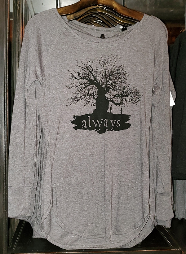 Wizarding World of Harry Potter Universal Studios Parks Ladies Raglan Shirt Snape Lily Always Tree