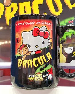 Hello Kitty Sanrio Universal Studios Parks Dracula Movie Horror Coffee Mug