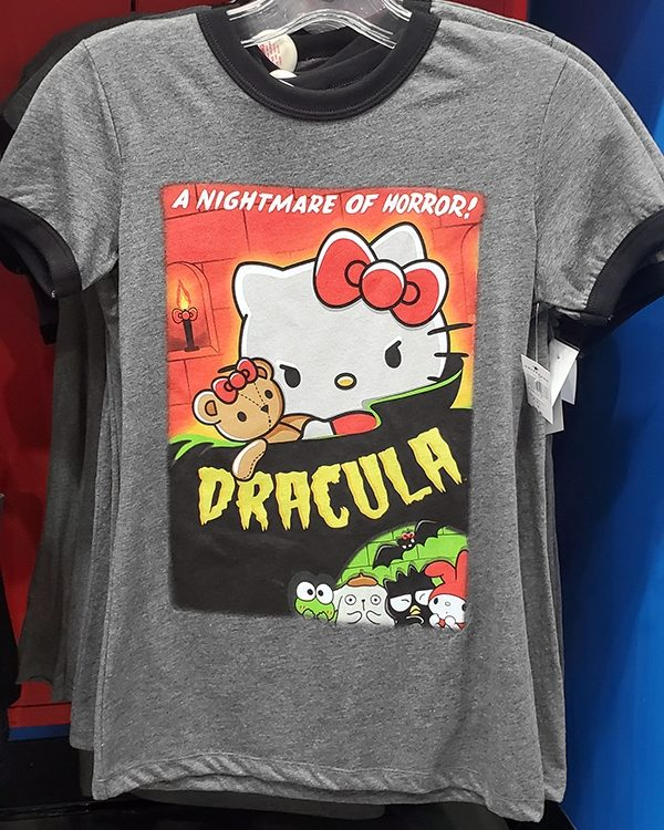 Universal Studios Parks Hello Kitty Dracula Horror Movie Poster Ladies Shirt
