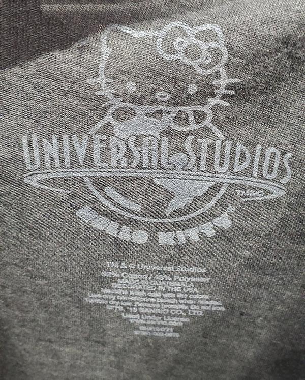 Universal Studios Parks Hello Kitty Dracula Horror Movie Poster Ladies Shirt