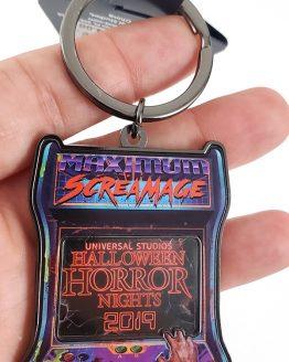 Halloween Horror Nights Universal Studios Parks HHN 2019 Event Arcade Keychain