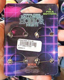 Halloween Horror Nights Universal Studios Parks HHN 2019 Stranger Things Button Set
