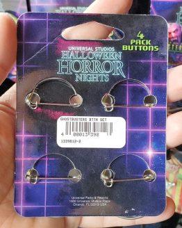Halloween Horror Nights Universal Studios Parks HHN 2019 Ghostbusters Button Set