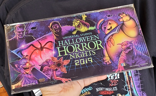 Halloween Horror Nights 2019 Universal Studios Parks Glossy Multi-Character License Plate