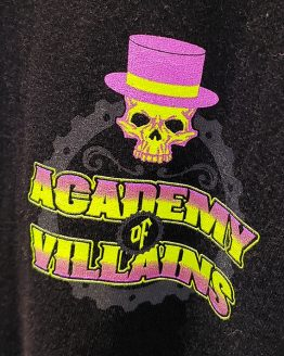 Halloween Horror Nights Universal Studios Parks HHN 2019 Academy of Villains Long Sleeve Adult Shirt