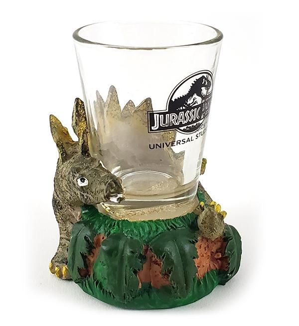 Jurassic Park Universal Studios Parks Stegosaurus Dinosaurs Shot Glass