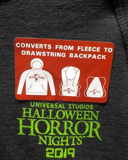Halloween Horror Nights Universal Studios Parks HHN 2019 Ghostbusters Adult Hoodie Sweatshirt Converts to Drawstring Backpack