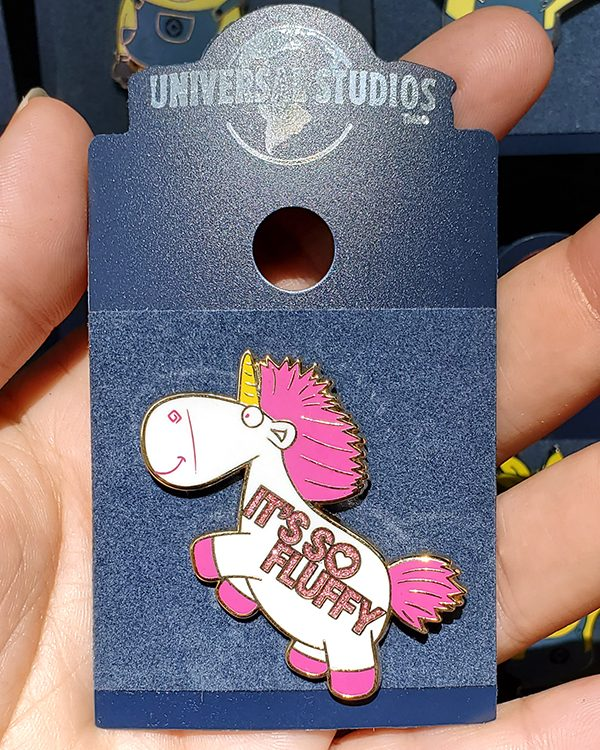 Despicable Me Universal Studios Parks Pin It's So Fluffy! Unicorn