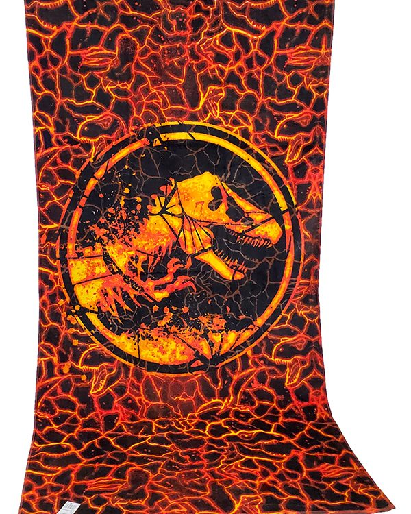 Jurassic World Universal Studios Parks 30x60 Escape Lava Fallen Kingdom Towel