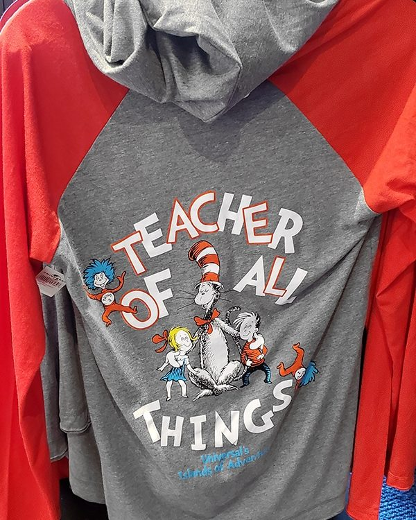 Dr Seuss Cat in the Hat Universal Studios Shirt - Teacher of All Things Red Long Sleeve
