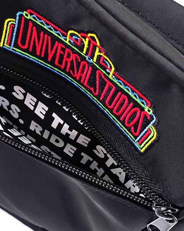 Universal Studios Florida Parks Neon Logo Black Retro Bag