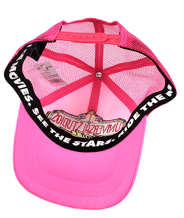 Universal Studios Florida Parks Neon Logo Retro Pink Mesh Baseball Hat