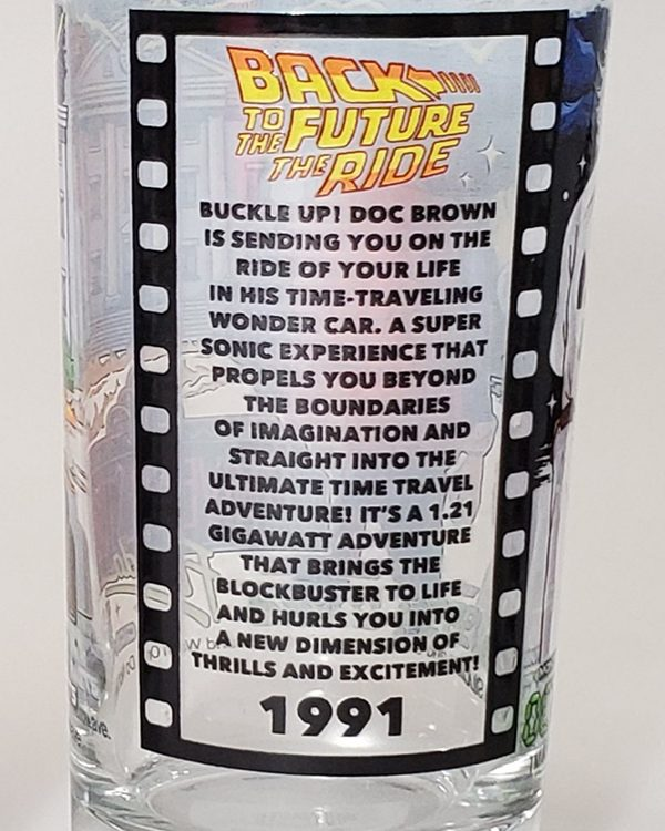 Universal Studios Parks 30th Anniversary Retro Florida Glass Back to the Future