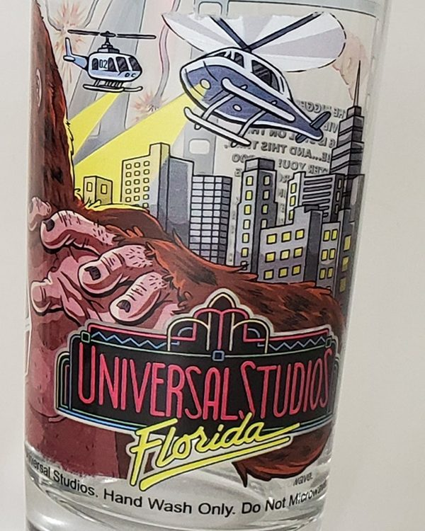 Universal Studios Parks 30th Anniversary Retro Florida Glass Kongfrontation
