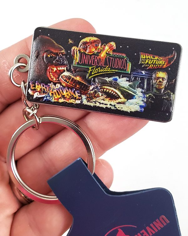 Universal Studios Parks 30th Anniversary Jaws Kong ET - Classic Rides Keychain