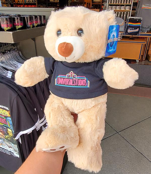"Universal Studios Parks 14"" Teddy Bear wearing Retro Neon Logo Shirt"