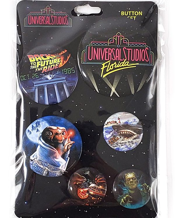 Universal Studios Florida Parks 30th Anniversary - Classic Attractions Button Set