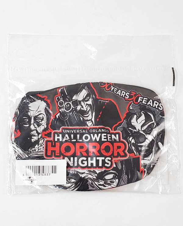 Universal Studios Parks Face Mask - Halloween Horror Nights 30 Years 30 Fears Retro Icons