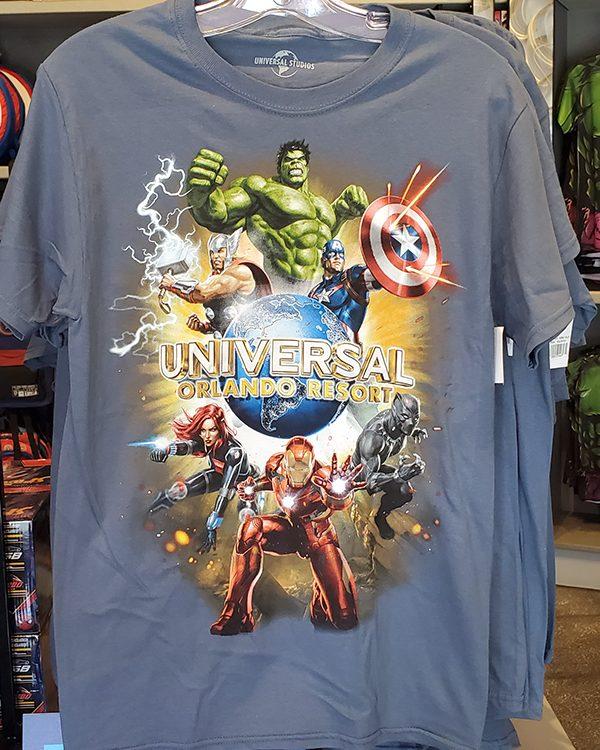 Universal Studios Parks Marvel Avengers Shirt Universal Orlando Resort Logo