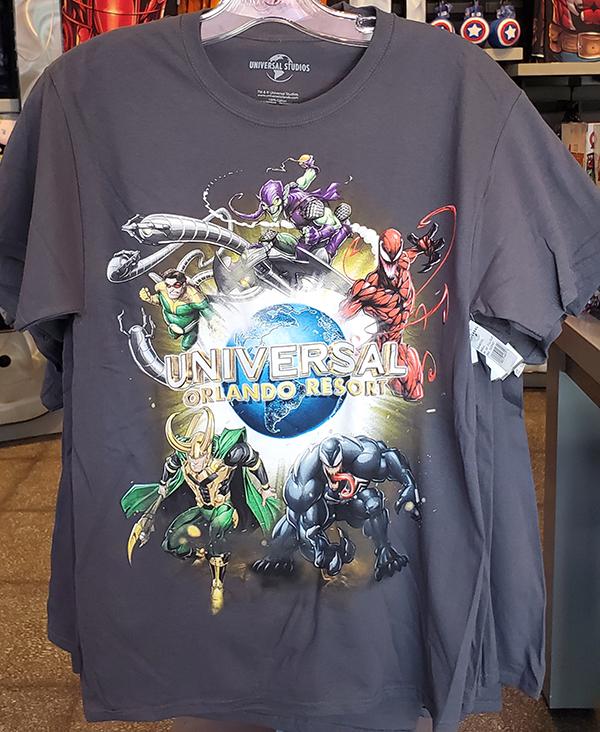 Universal Studios Parks Marvel Spiderman Shirt Universal Orlando Resort Logo